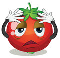 A tomato illustration of on white background Royalty Free Stock Images