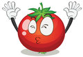 A tomato illustration of on white background Stock Image
