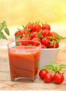 Tomato juice glass of is a healthy and refreshing drink Royalty Free Stock Photo