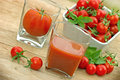 Tomato juice squeezed healthy drink Stock Image