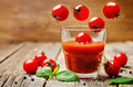 Tomato juice with tomatoes Royalty Free Stock Photo