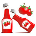 Tomato Ketchup Bottle Vector Royalty Free Stock Images