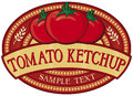 Tomato ketchup label Royalty Free Stock Photo