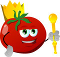 Tomato king vector style illustrated vector format is available Stock Photo