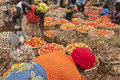 Tomato market tomatos on in uganda Royalty Free Stock Photo
