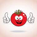 Cute Tomato Cartoon Character giving thumbs up