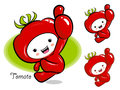 Tomato mascot the right hand best gesture vegetable character d design series Royalty Free Stock Photography