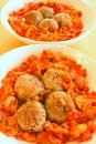 Tomato meatballs Stock Images