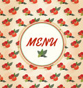 Tomato menu vector template Stock Photography