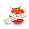 Tomato and meter Stock Photos