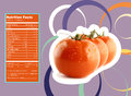 Tomato nutrition facts creative design for with label Stock Images