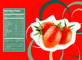 Tomato nutrition facts creative design for with label Stock Photography