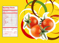 Tomato nutrition facts creative design for with label Stock Photo