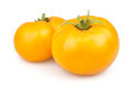 Tomato orange two on white background Royalty Free Stock Photography
