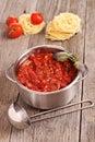 Tomato pasta sauce Royalty Free Stock Photo