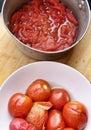 Tomato peeling Royalty Free Stock Photo