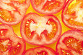 Tomato pieces Stock Photo
