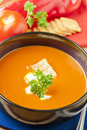 Tomato and  red pepper soup Stock Photography