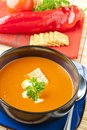 Tomato and  red pepper soup Royalty Free Stock Photo