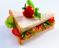 Tomato sandwich Royalty Free Stock Photography