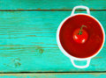 Tomato sauce on a wooden background Stock Photos