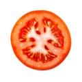 Tomato slice isolated on white background Royalty Free Stock Photo