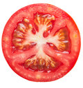 Tomato slice on white background Stock Images