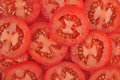 Tomato slices background Royalty Free Stock Photo