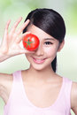 Tomato with smile face Royalty Free Stock Photo