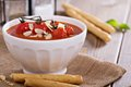 Tomato soup in a bowl Royalty Free Stock Photo