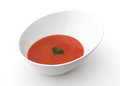 Tomato soup a bowl of on a white background Royalty Free Stock Photo
