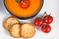 Tomato soup close-up Royalty Free Stock Photo
