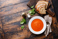Tomato soup Gazpacho Royalty Free Stock Photo