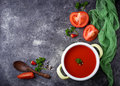 Tomato soup. Healthy vegan food