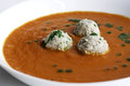 Tomato soup with meatballs Royalty Free Stock Photo
