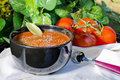 Tomato Soup Outside Stock Image