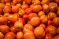 Tomato stack a of on vegetable stall Stock Photography
