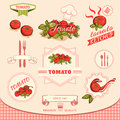 Tomato vegetables product label packaging design Stock Photography