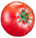 Tomato with water drops. Royalty Free Stock Photo
