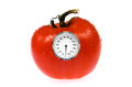 Tomato with weight scale Royalty Free Stock Photo