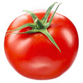 Tomato on white with clipping path isolated background Royalty Free Stock Photo