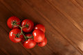 Tomato on wood table red Stock Photography