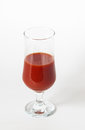 Tomatoe juice fresh in a glass Stock Images
