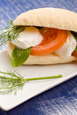 Tomatoe Mozzarella Sandwich Royalty Free Stock Images