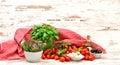 Tomatoes, Basil, Mozzarella An...