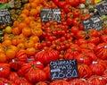 Tomatoes at Borough Market Royalty Free Stock Photo
