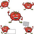 Tomatoes cartoon figures Royalty Free Stock Photo