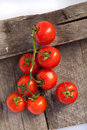 Tomatoes cooked with herbs for the preservation on old wooden tabletomatoes on old Royalty Free Stock Images