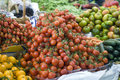 Tomatoes on farmers market Royalty Free Stock Photo