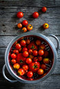 Tomatoes fresh cherry on the table Royalty Free Stock Images